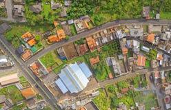 Looking down at Banos de Agua Santa, South America Stock Photo