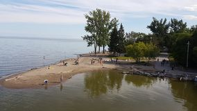 Lake Ontario Beach & x28;Scarborough& x29; royalty free stock image