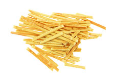 Looking Down at Bread Sticks Stock Photography