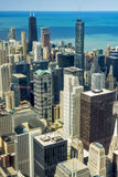 Looking down on buildings in Chicago Illinois Royalty Free Stock Image