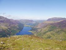 Looking down on Buttermere. With Crummock Water behind, Lake District royalty free stock photos