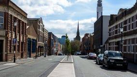 Looking Down Caroline Street in Jewellery Quarter Birmingham. England, Birmingham - April 10, 2017: Looking Down Caroline Street in Jewellery Quarter Birmingham Stock Photography