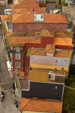 Looking Down on Clay Tile Roofs. Stock Image