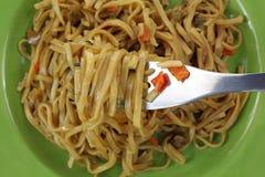 Teriyaki Noodles up Close Stock Photo