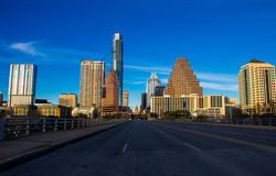 Looking down congress Avenue bridge capital of texas austin Royalty Free Stock Photos