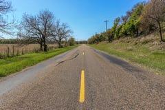 Looking Down a Country Road. Near Oakalla, Texas Royalty Free Stock Image