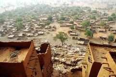 Looking down on a Dogon village Stock Photography