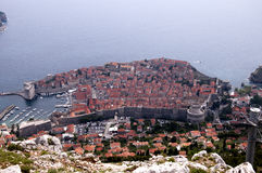 Looking down Dubrovnic Royalty Free Stock Images