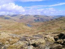 Looking down on Easedale tarn, Lake District Stock Photos