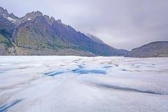 Looking Down a Glacier Stock Image
