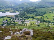Looking down from Glenridding Dodd, Lake District Royalty Free Stock Image