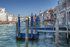 The Grand Canal in Venice stock photography