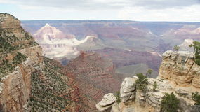 Looking down into the Grand Canyon. Royalty Free Stock Image
