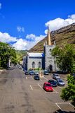 Looking down on Grand Parade Jamestown St Helena royalty free stock photos