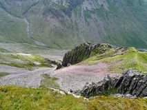 Looking down from Great Gable, Lake District Stock Image