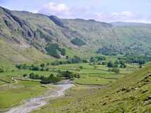 Looking down Great Langdale, Lake District Stock Photography