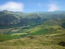 Looking down on Great Langdale, Lake District Royalty Free Stock Photos