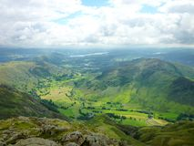 Looking down on Great Langdale Stock Images