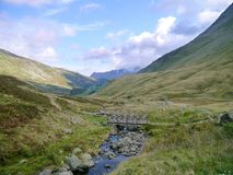 Looking down Grisedale Valley, Lake District Stock Image