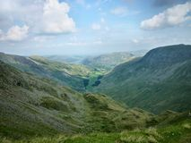Looking down Grisedale valley Stock Photography