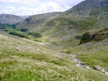 Looking down into the Grisedale valley, Lake District Stock Photo