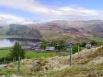 Looking down on hamlet of Watendlath Royalty Free Stock Photography