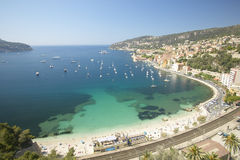 Looking down on the harbor and Mediteranean at Nice, France Royalty Free Stock Photo