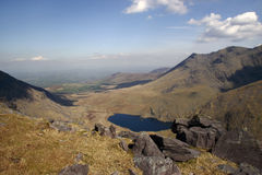 Looking down on heaven. A view from a mountain in kerry stock images