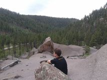 Looking down on the Jemez Stock Images