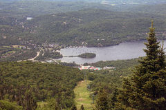 Looking down on the lake at Mont Tremblant 4 Royalty Free Stock Photo