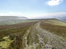 Looking down long but easy path up to Great Dodd Royalty Free Stock Photo