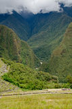 Looking down from Machu Picchu Royalty Free Stock Images