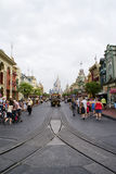 Looking Down Main Street U.S.A. Royalty Free Stock Photography