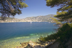 Looking down on the Mediteranean at Nice, France Stock Image