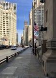 Looking Down Michigan Avenue Bridge Royalty Free Stock Photos