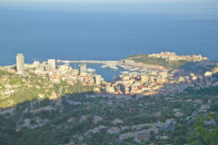 Looking down on Monte Carlo, French Riviera, France Royalty Free Stock Image