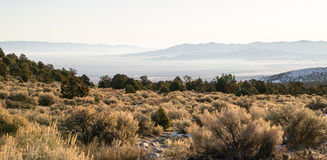 Looking Down Mountain Into Great Basin Nevada Desert Southwest Royalty Free Stock Photo
