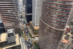 Looking down on New York traffic Royalty Free Stock Photography