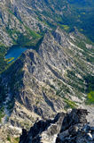 Looking Down the North Ridge of Mt. Stuart From the Summit. Royalty Free Stock Image