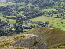 Looking down on northern part of Grasmere, Lake District Stock Image