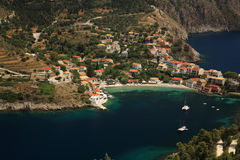 Looking down onto Assos Royalty Free Stock Image
