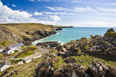 Looking down onto Kynance Cove Cornwall Royalty Free Stock Photography