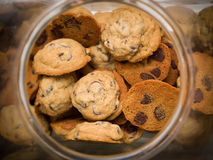 Cookie jar. Looking down into open cookie jar Royalty Free Stock Photography