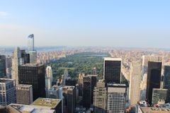 Looking down over New York City from the Rockefellar Centre. View looking down over New York City from the top of the Rockefellar Centre Royalty Free Stock Photography