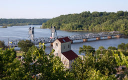 Looking Down Over the St. Croix River. From Stillwater, MN Stock Photos