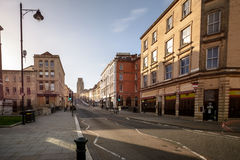 Looking Down Park Street A Bristol England. Long Exposure Photography Stock Images