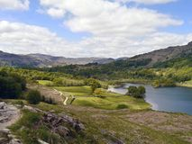 Looking down popular path by Rydal Water near Grasmere Stock Image