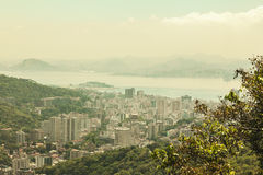 Looking down on Rio cityscape Stock Images