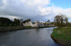 Looking Down River Maigue at Desmond Castle Ruins Royalty Free Stock Photo