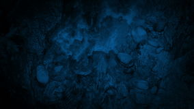 Looking Down On River In The Wilderness At Night stock footage